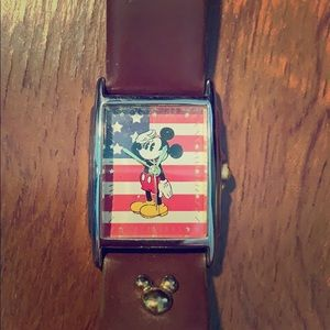 Disney Women's Mickey Mouse American Flag Watch